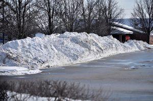 Snow Ploweed Parking Lot